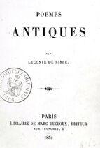 Leconte de Lisle 1852 Poèmes antiques
