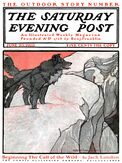 London Appel de la forêt 1903 Saturday evening post