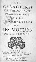 La Bruyère 1688 Caractères