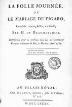 Beaumarchais 1785 Mariage de Figaro