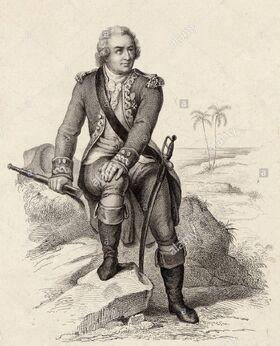 LOUIS-ANTOINE DE BOUGAINVILLE de la marine française, navigateur, géographe