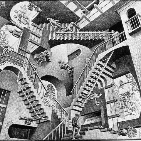 Des escaliers qui montent en bas ou qui descendent en haut, Escher a réussi à créer un monde oxymorique