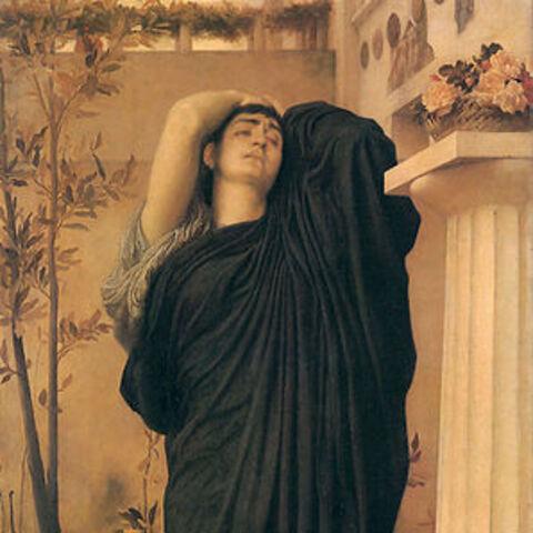 Électre sur la tombe d'Agamemnon par Frederic Leighton, 1888-1889,