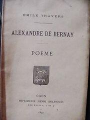 Oeuvre d'Alexandre de Bernay