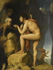 Oedipe explique l'énigne du sphinx