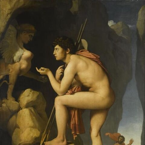 Jean-Auguste-Dominique Ingres, <i>Œdipe et le sphinx</i>, vers 1826-1827, huile sur toile,  © The National Gallery, London