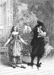 Molière Tartuffe L'eau-forte en 1875 Burty Philippe
