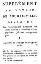 Diderot 1796 Supplément au voyage de Bougainville