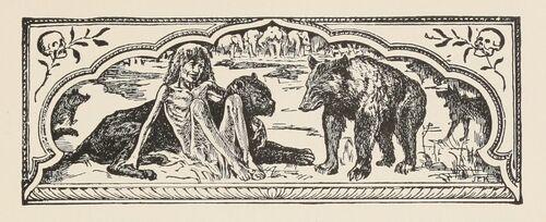 How Fear Came title illustration 1895 John Lockwood Kipling