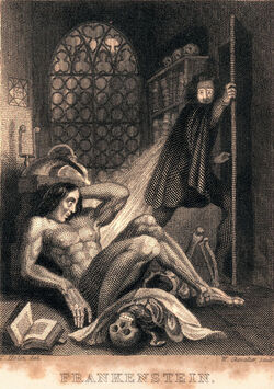 Frankenstein engraved