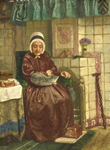 OldWomanByTheHearthAugustAllebé1875