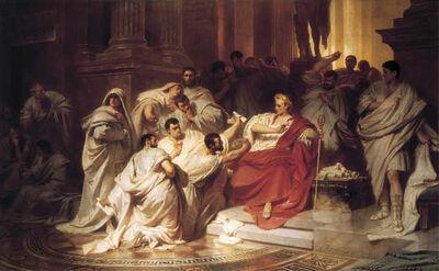 Murder Of Caesar 1865 Karl Theodor von Piloty