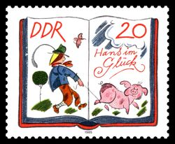 1985EastGermanHansInLuckStamp