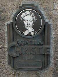 AgathaChristiePlaque