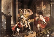 Aeneas Flight from Troy Federico Barocci