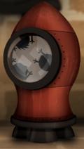 Ракета в камине