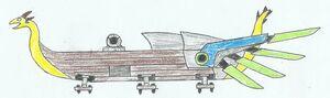 Karve class flying longship LWA WoM