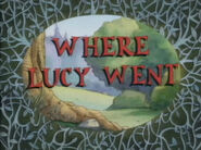 Where Lucy Went