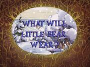What Will Little Bear Wear