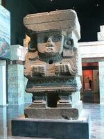 Stone sculpture of Chalchiuhtlicue