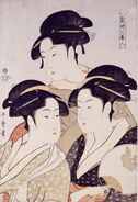 Three Beauties of the Present Day, by Utamaro, c. 1793
