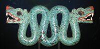Double-headed Aztec serpent