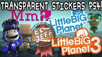LBP3 Glitch PS4 Transparent Sticker Glitch!