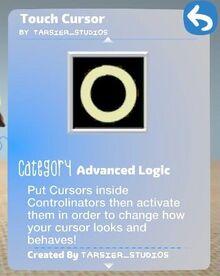 Touch cursor