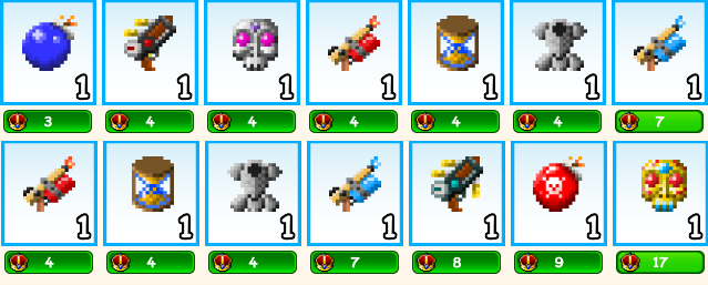 All Avaible Special items