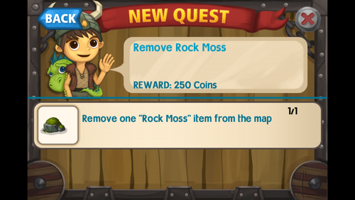 Remove rock moss