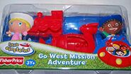 Little Red Train in Go West Mission Adventure Figure Set