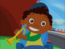 Quincy with Trumpet