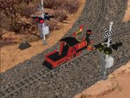 Side - Little red train