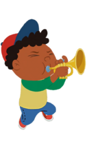 Quincy playing trumpet