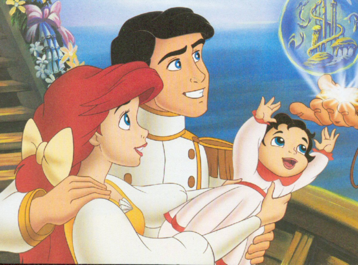 ariel and eric. Ariel eric and melody jpg Image  The Little Mermaid FANDOM
