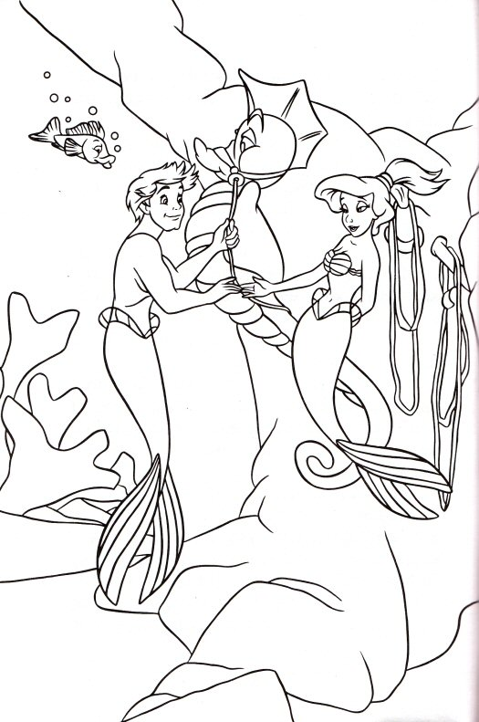 vanessa little mermaid coloring pages 58143