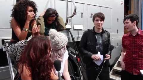 Little Mix make weird noises for Dan & Phil!