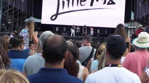 Little Mix performing Salute and DNA Gibraltar Music Festival