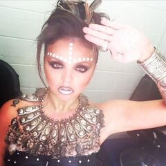 Jesy as salute warrior