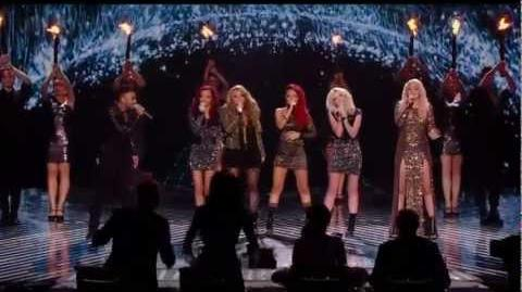 Amelia Lily, Little Mix and Marcus Collins - Greatest Day (FINAL - The X Factor UK 2011)