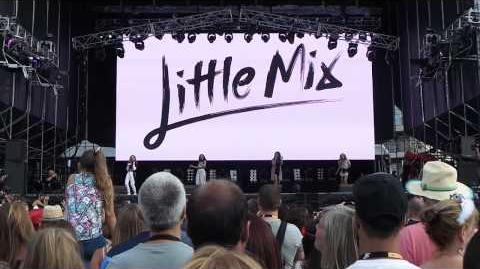Little Mix performing Change Your Life at Gibraltar Music Festival