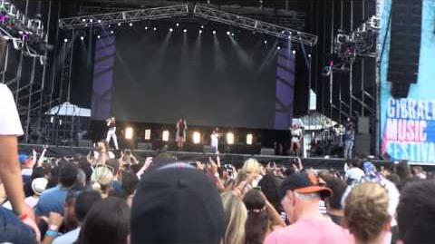 Little Mix performing Wings at Gibraltar Music Festival