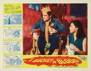A Bucket of Blood Lobby Card 06 - Barboura Morris & Dick Miller