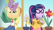 My Little Pony Equestria Girls My Little Shop of Horrors Applejack catching Spike
