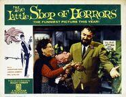 The Little Shop of Horrors Lobby Card 01 - Leola Wendorff & Mel Welles