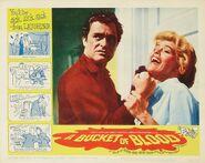A Bucket of Blood Lobby Card 02 - Dick Miller & Judy Bamber