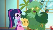 My Little Pony Equestria Girls My Little Shop of Horrors A bush singing to Twilight Sparkle