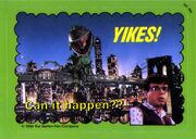 Little Shop of Horrors Topps Trading Card - Rick Moranis and Audrey II on the Brooklyn Bridge