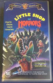 Little Shop of Horrors (1986) VHS Australia Hollywood Musicals Banner 1