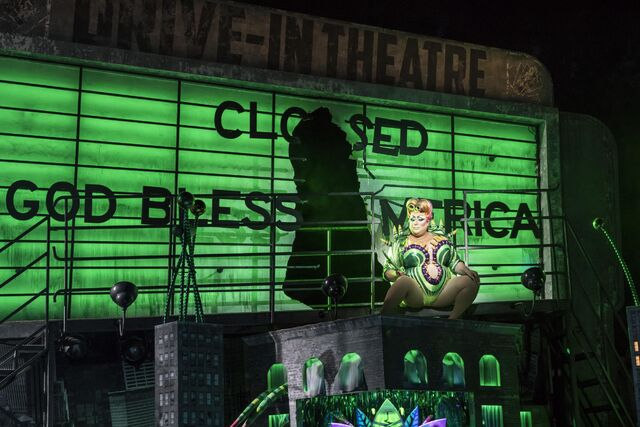 Image vicky vox as audrey ii. photo johan persson. design tom